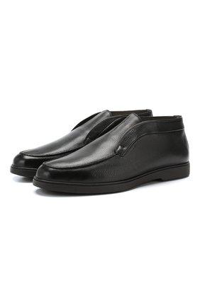 Мужские кожаные ботинки  SANTONI черного цвета, арт. MGYG16715SM0ADI0N01 | Фото 1
