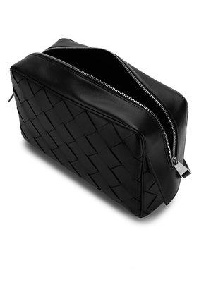 Мужской кожаный несессер BOTTEGA VENETA черного цвета, арт. 575554/V00BG | Фото 3 (Материал: Натуральная кожа; Статус проверки: Проверена категория)