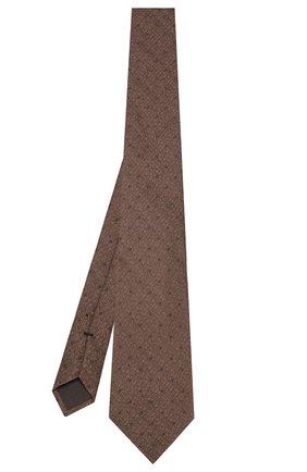 Мужской галстук из смеси шелка и шерсти TOM FORD коричневого цвета, арт. 6TF10/XTF   Фото 2