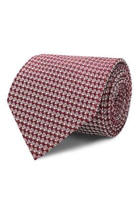 Мужской шелковый галстук TOM FORD бордового цвета, арт. 6TF08/XTF | Фото 1