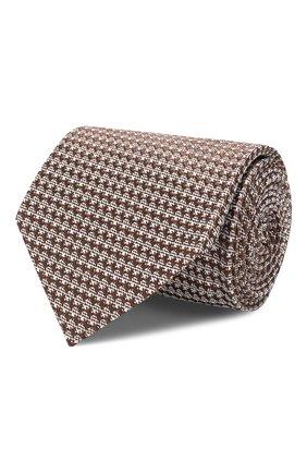 Мужской шелковый галстук TOM FORD коричневого цвета, арт. 6TF08/XTF   Фото 1