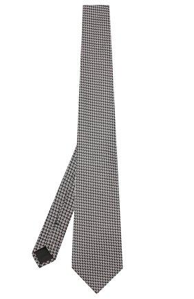 Мужской шелковый галстук TOM FORD черно-белого цвета, арт. 6TF08/XTF | Фото 2