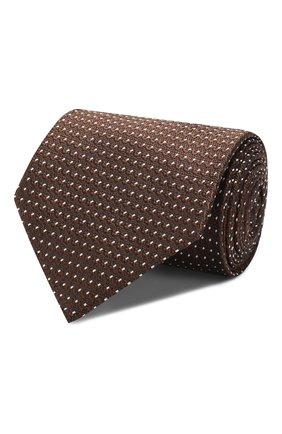 Мужской шелковый галстук TOM FORD коричневого цвета, арт. 6TF07/XTF   Фото 1