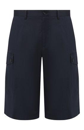 Мужские хлопковые шорты DOLCE & GABBANA темно-синего цвета, арт. GY7IAZ/FUFIS | Фото 1