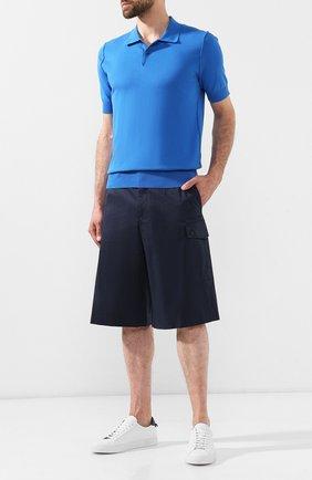 Мужские хлопковые шорты DOLCE & GABBANA темно-синего цвета, арт. GY7IAZ/FUFIS | Фото 2