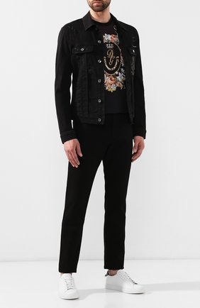 Мужские джинсы DOLCE & GABBANA черного цвета, арт. GY07CD/G8BK5 | Фото 2