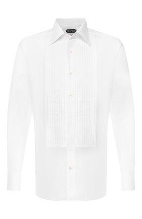 Мужская хлопковая сорочка TOM FORD белого цвета, арт. 6FT287/94SIJE | Фото 1