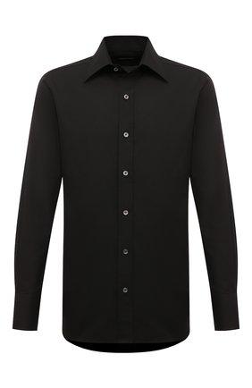 Мужская хлопковая сорочка TOM FORD черного цвета, арт. 6FT195/94S1JE | Фото 1
