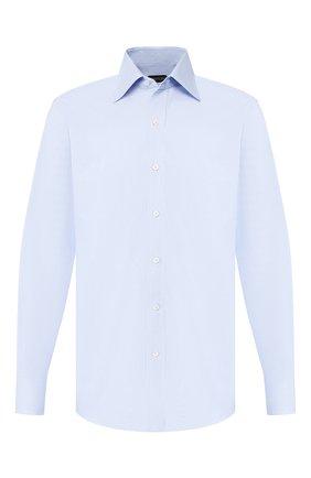 Мужская хлопковая сорочка TOM FORD голубого цвета, арт. 6FT103/94C1JE | Фото 1