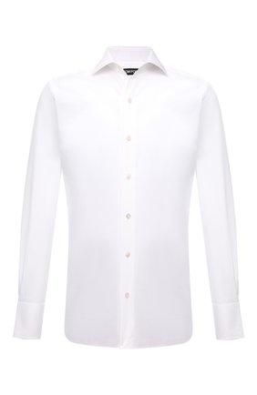 Мужская хлопковая сорочка TOM FORD белого цвета, арт. 6FT000/94S3AX | Фото 1
