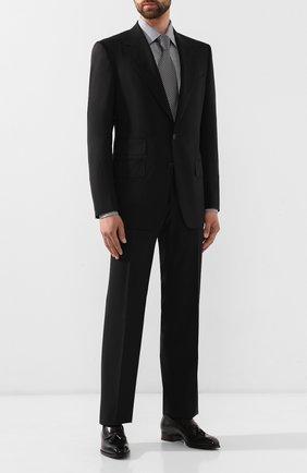 Мужской шерстяной костюм TOM FORD черного цвета, арт. 622R12/21AA43   Фото 1