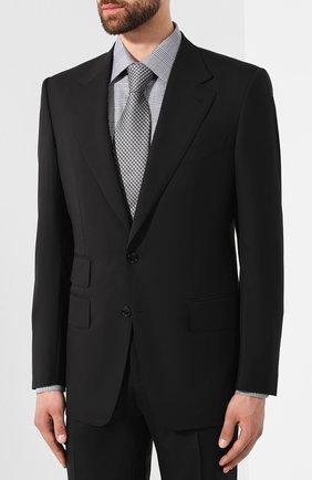 Мужской шерстяной костюм TOM FORD черного цвета, арт. 622R12/21AA43   Фото 2