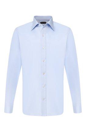 Мужская хлопковая сорочка TOM FORD голубого цвета, арт. 6FT192/94S2JE | Фото 1