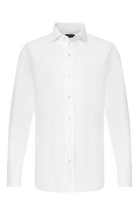 Мужская хлопковая сорочка TOM FORD белого цвета, арт. 6FT190/94S1AX | Фото 1