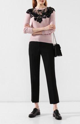 Женские кожаные дерби SANTONI черного цвета, арт. WUAK58115BY2CNWDN01 | Фото 2