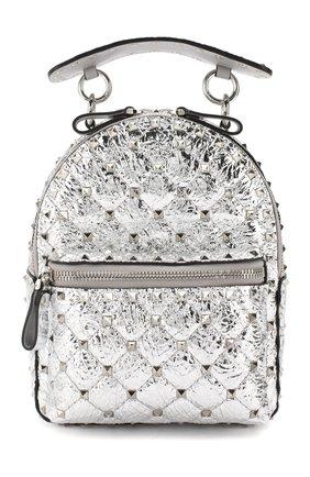 Женский рюкзак valentino garavani rockstud spike mini VALENTINO серебряного цвета, арт. SW2B0B63/ZJY | Фото 1