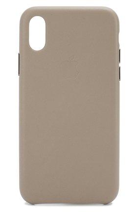 Мужской чехол для iphone x/xs APPLE серого цвета, арт. MRWL2ZM/A | Фото 1