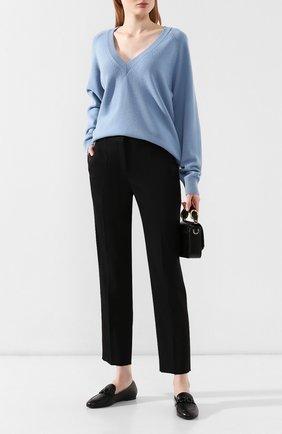 Женские кожаные лоферы gancini SALVATORE FERRAGAMO черного цвета, арт. Z-07153021C | Фото 2