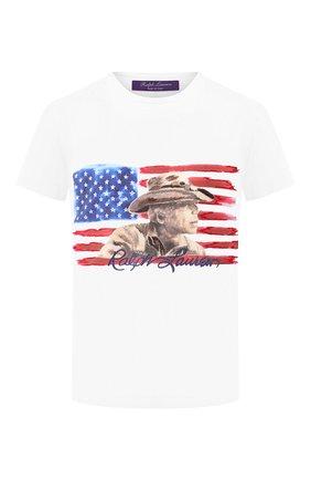 Женская хлопковая футболка RALPH LAUREN белого цвета, арт. 290764549 | Фото 1
