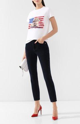 Женская хлопковая футболка RALPH LAUREN белого цвета, арт. 290764549 | Фото 2