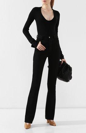 Женские джинсы BOTTEGA VENETA черного цвета, арт. 577650/VF4P0 | Фото 2