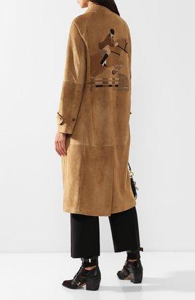 Женское замшевое пальто RALPH LAUREN бежевого цвета, арт. 290760605 | Фото 2
