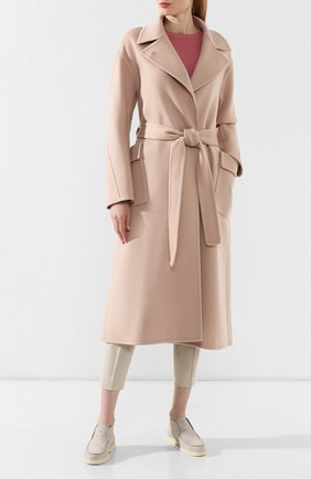 Женское кашемировое пальто LORO PIANA светло-розового цвета, арт. FAI7134   Фото 2