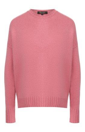 Женский кашемировый пуловер LORO PIANA розового цвета, арт. FAI1834   Фото 1