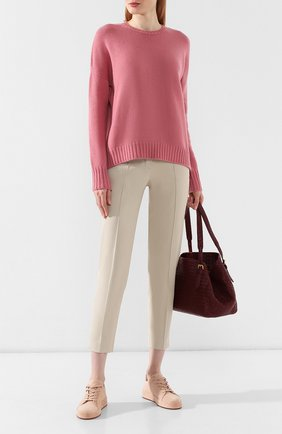 Женский кашемировый пуловер LORO PIANA розового цвета, арт. FAI1834   Фото 2