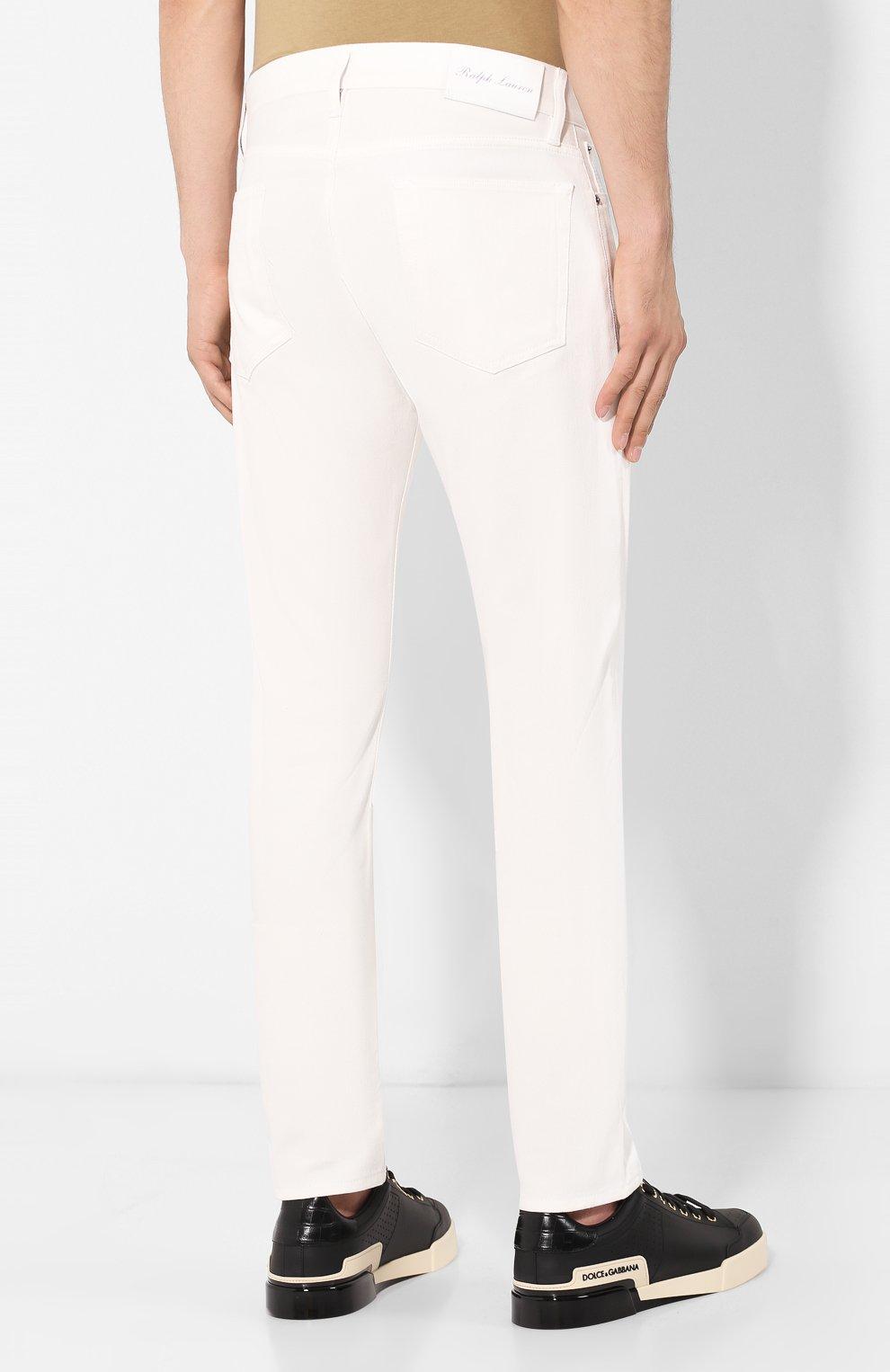 Мужские джинсы RALPH LAUREN белого цвета, арт. 790563748 | Фото 4