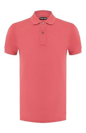 Мужское хлопковое поло TOM FORD розового цвета, арт. BT331/TFJ664   Фото 1
