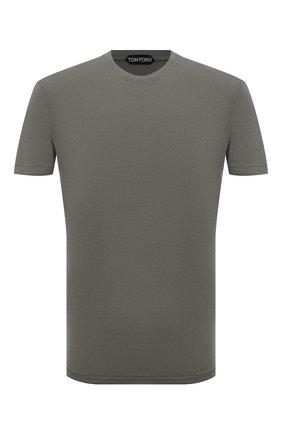 Мужская футболка TOM FORD хаки цвета, арт. BT229/TFJ950 | Фото 1