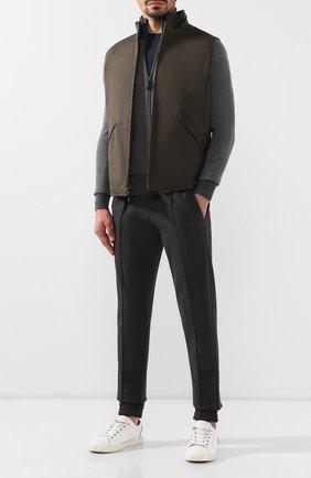 Мужская шерстяной кардиган BRIONI серого цвета, арт. UMT20L/08K31 | Фото 2