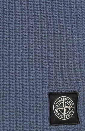 Мужской шерстяной шарф STONE ISLAND синего цвета, арт. 7115N15B5 | Фото 2