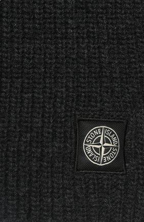 Мужской шерстяной шарф STONE ISLAND темно-серого цвета, арт. 7115N15B5 | Фото 2