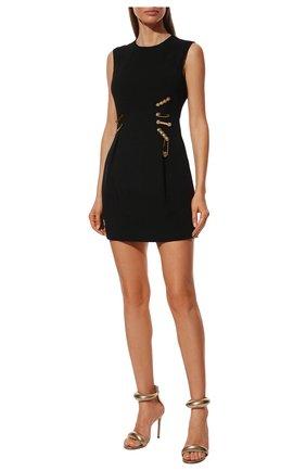Женское платье из вискозы VERSACE черного цвета, арт. A83752/A213159 | Фото 2