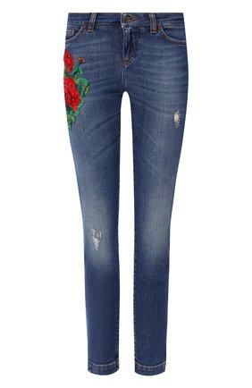 Женские джинсы DOLCE & GABBANA синего цвета, арт. FTAH7Z/G898L | Фото 1