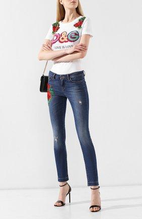 Женские джинсы DOLCE & GABBANA синего цвета, арт. FTAH7Z/G898L | Фото 2