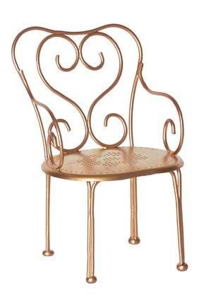 Детского игрушечный винтажный стул MAILEG золотого цвета, арт. 11-7207-05 | Фото 1