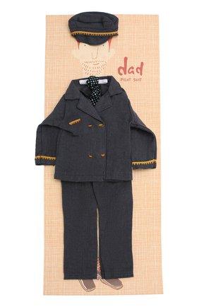 Детского одежда для куклы папа джинджер MAILEG синего цвета, арт. 17-6134-00   Фото 1