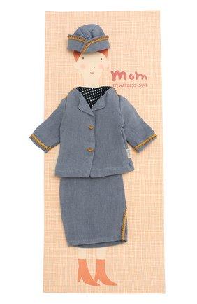 Детского одежда для куклы мама джинджер MAILEG синего цвета, арт. 17-6144-00   Фото 1