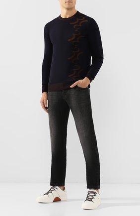 Мужской пуловер из смеси шерсти и хлопка BILLIONAIRE темно-синего цвета, арт. MKO0630 | Фото 2