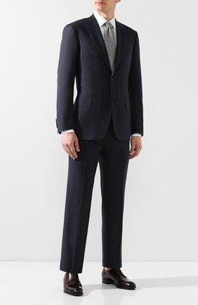 Мужской кожаные дерби BRIONI темно-коричневого цвета, арт. QEEX0L/P6757 | Фото 2
