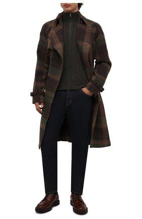 Мужской кашемировый свитер LORO PIANA хаки цвета, арт. FAD7358   Фото 2