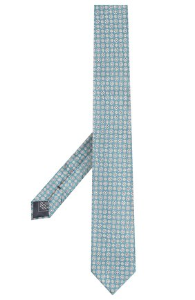 Мужской комплект из галстука и платка BRIONI бирюзового цвета, арт. 08A400/08415 | Фото 2