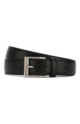 Мужской кожаный ремень BOTTEGA VENETA черного цвета, арт. 575231/VMAU2 | Фото 1