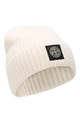 Мужская шерстяная шапка STONE ISLAND белого цвета, арт. 7115N10B5 | Фото 1