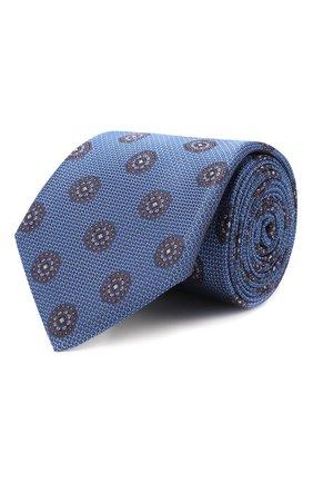 Мужской шелковый галстук CANALI синего цвета, арт. 18/HJ02323   Фото 1