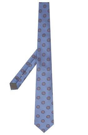 Мужской шелковый галстук CANALI синего цвета, арт. 18/HJ02323   Фото 2