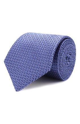 Мужской шелковый галстук CANALI синего цвета, арт. 18/HJ02300   Фото 1